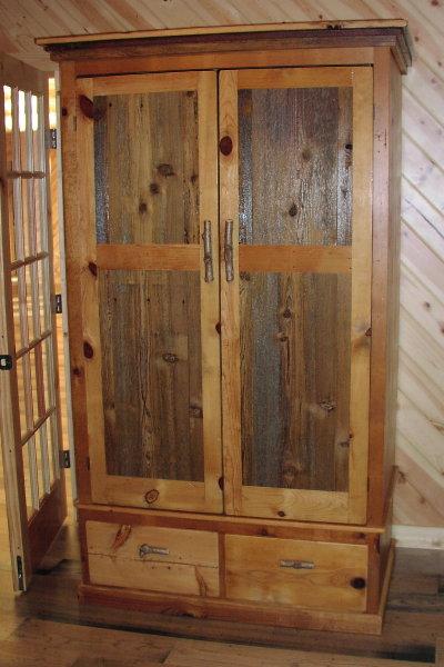 ... Custom Rustic Furniture   Armoire Of Antique Pine