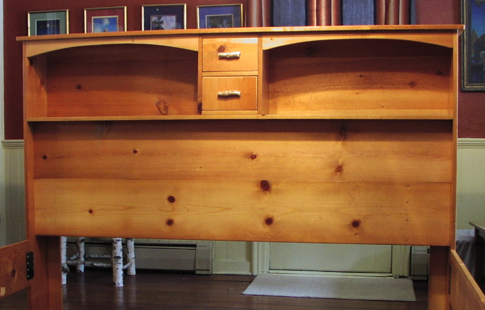 ... Custom Rustic Furniture   Queen Headboard Of Southern Yellow Pine