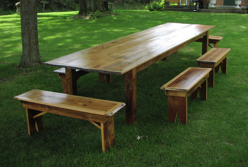 Reclaimed Dining Room Tables Images Trestle