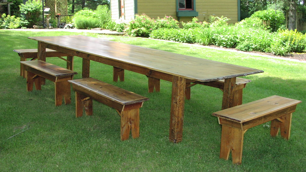 ... Custom Harvest Table   12 Foot Antique Pine, Oak, Black Ash ...
