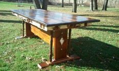 Custom Harvest Table - Adirondack Walnut