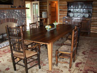Custom Harvest Table - Antique Pine Lodge Table