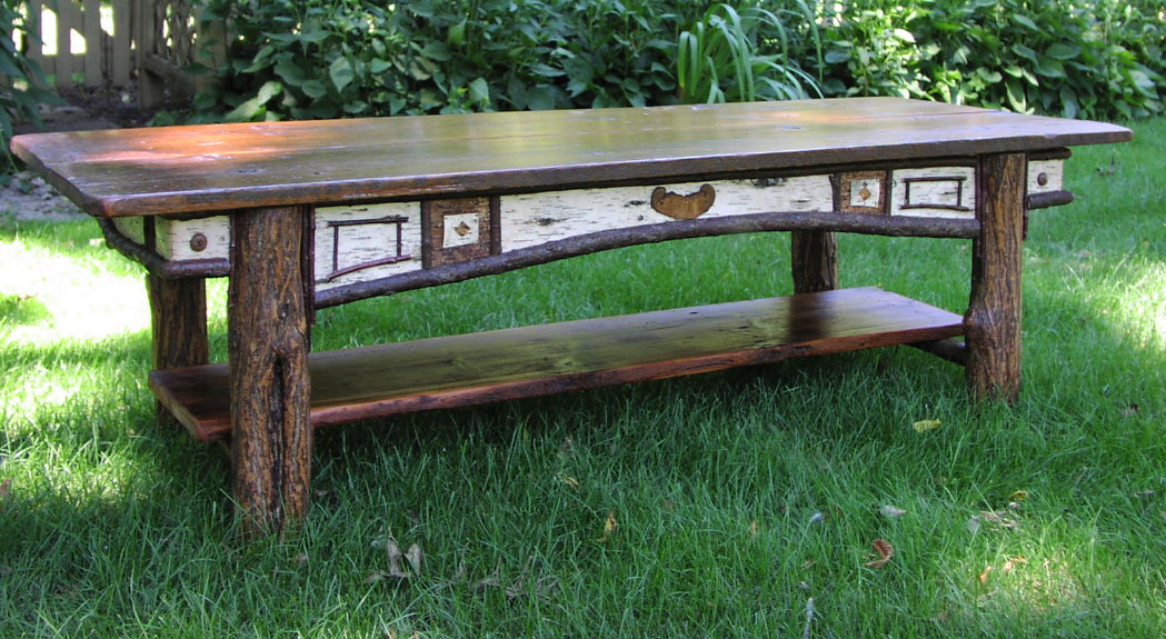Marvelous Custom Harvest Table   12 Foot Antique Pine, Oak, Black Ash. Adirondack  Coffee Table
