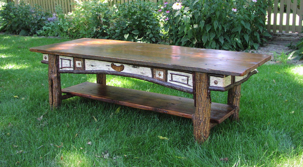 Delightful ... Adirondack Design   Custom Coffee Table ...