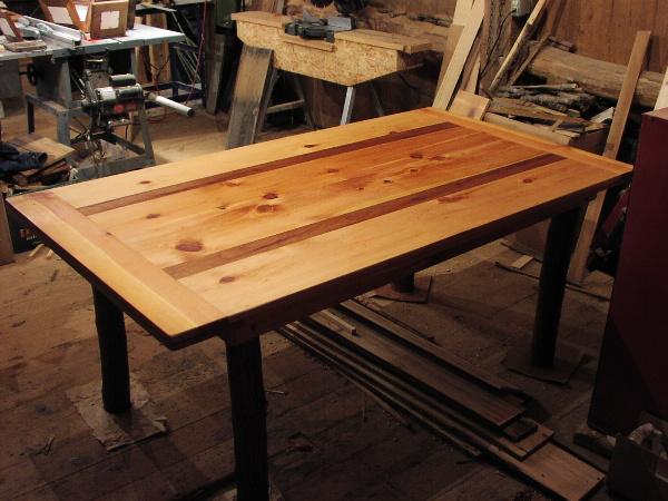 Wonderful ... Custom Harvest Table   Antique Wood Of Pine And Black Walnut