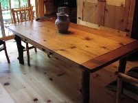 Custom Harvest Table - Antique Ponderosa Pine