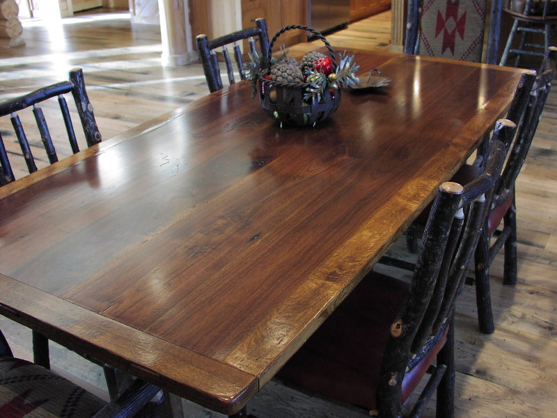 Awesome Farm Table   Walnut And Oak Trestle Table. Harvest ...