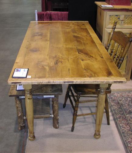 ... Custom Harvest Table   Reclaimed Lumber Of White Pine And Birdseye Oak