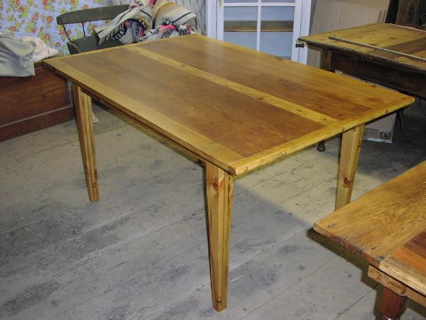 ... Custom Farm Table   Reclaimed Lumber Of Cherry Wood