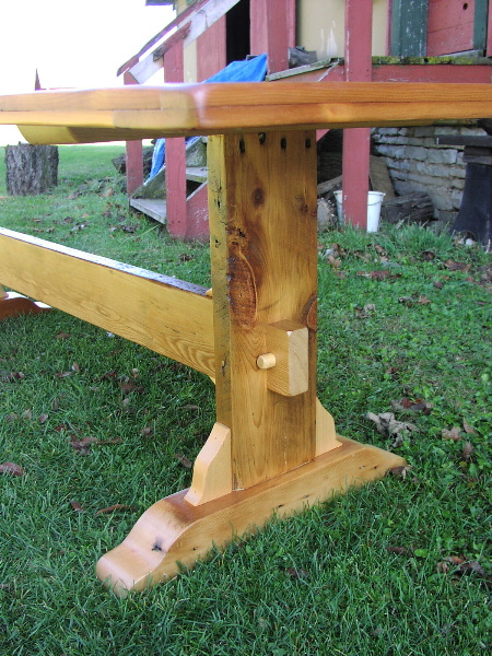 Custom Trestle Table   8 Foot Long Antique Pine ...